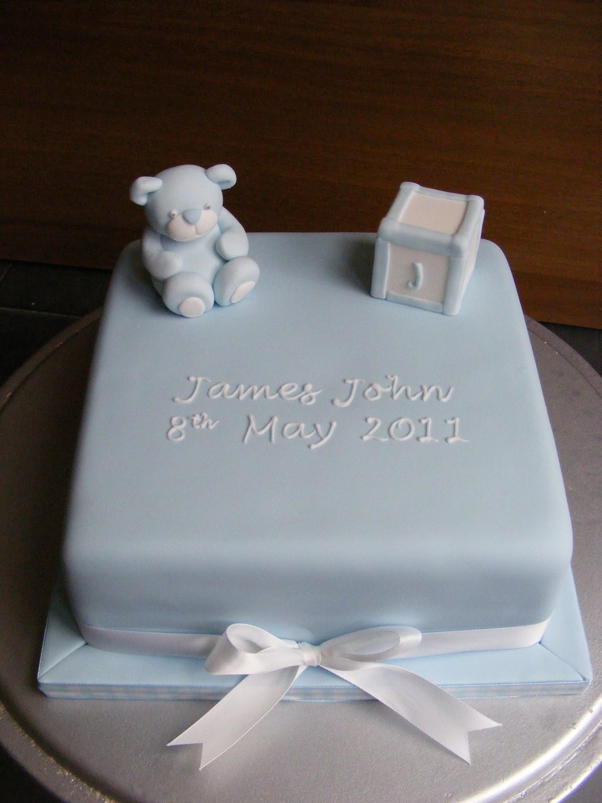 Christening Cake Ideas For Boys