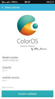 Color os for gionee m3