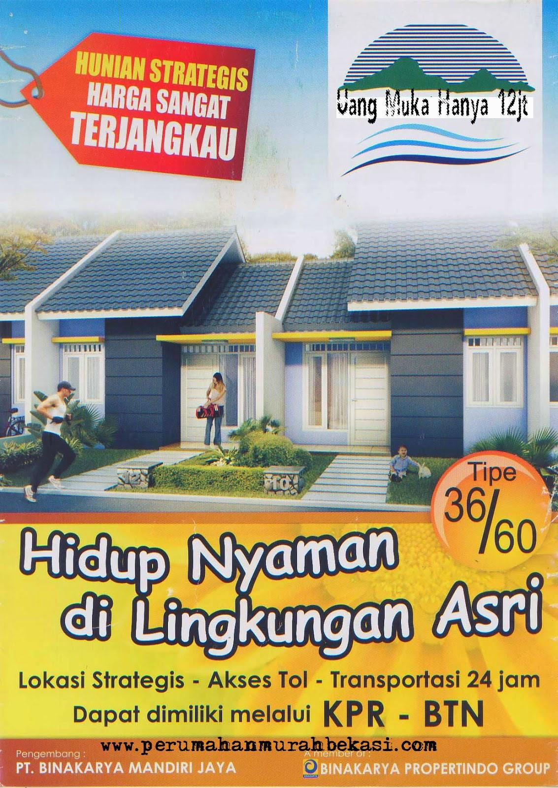 Rumah Subsidi Bekasi Uang Muka 12juta Dekat Kawasan MM 2100