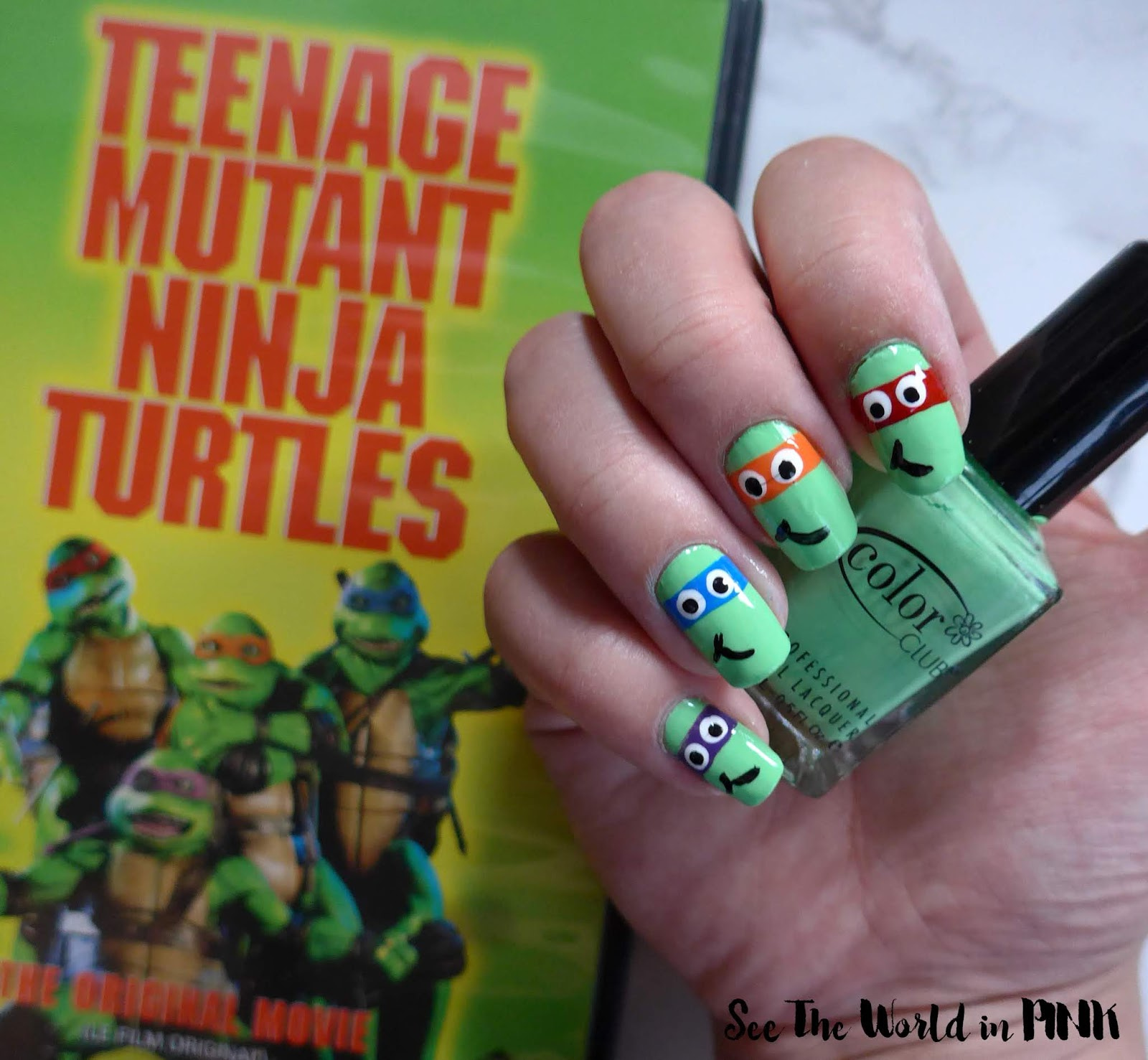 Manicure Monday - Teenage Mutant Ninja Turtle Nail Art!