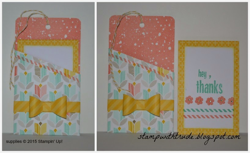 stampwithtrude.blogspot.com , Trude Thoman, Stampin' Up!, April Paper Pumpkin kit remake #2, Thank You card, floral