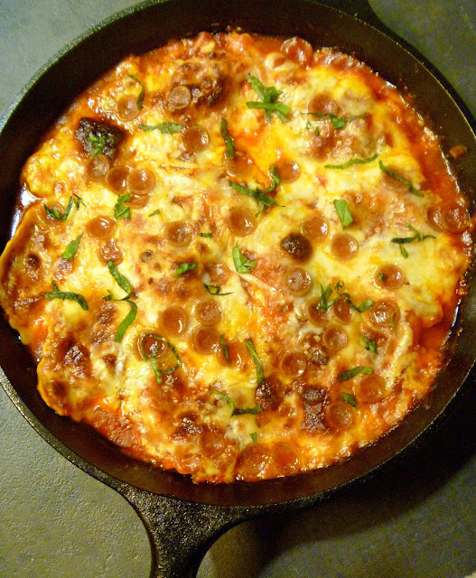 One Pot Meat Lovers Pizza Ravioli Bake - a one pot meal bursting with your favorite pizza flavors.  One that the whole family will love. - Slice of Southern