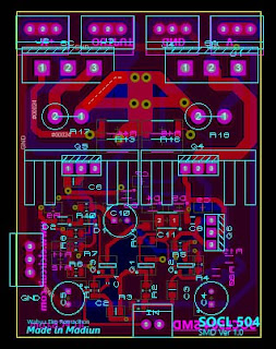PCB Layout Design Power Amplifier SOCL 504 SMD