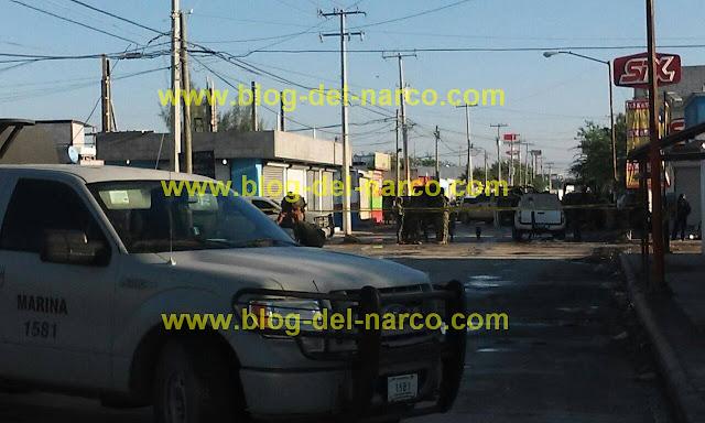 """Fotogaleria: Marinos exhiben su poder y dejan una decena de sicarios del """"Toro"""" muertos en Reynosa"""