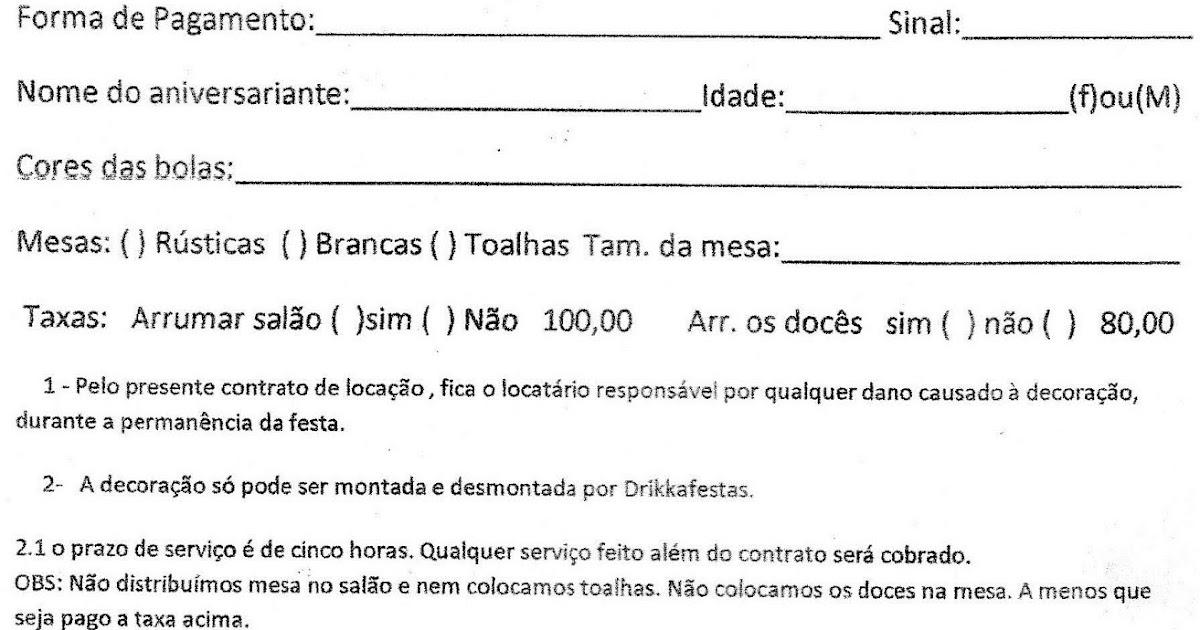 Drikka No Brogger Contrato Para Locação De Festas