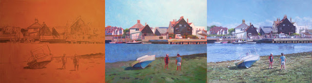 Artist Martin Davey acrylic art landscape dorset coast