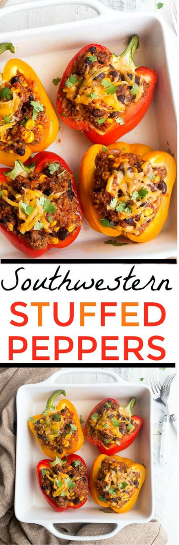 Stuffed Peppers for Two #food #italian