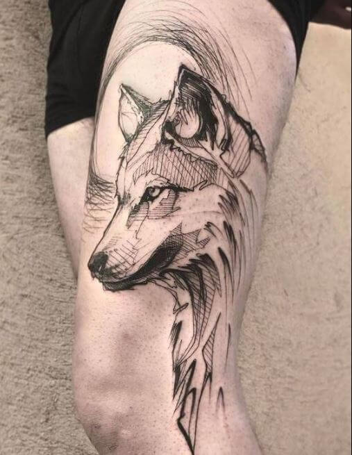 130 Best Wolf Tattoos For Men 2019 Howling Lone