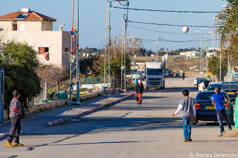 Kids Playing Ball Jisr az-Zarqa Israel