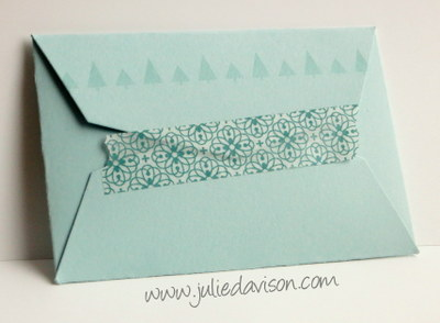 Festival of Trees Gift Card Holder #stampinup #christmas www.juliedavison.com