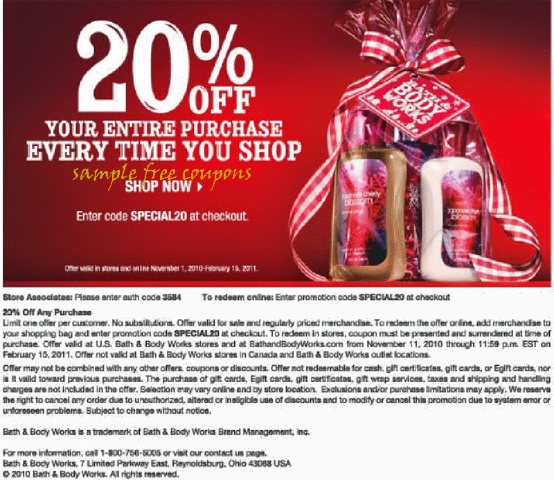Works Body Feb Coupons Store 2014 And Bath