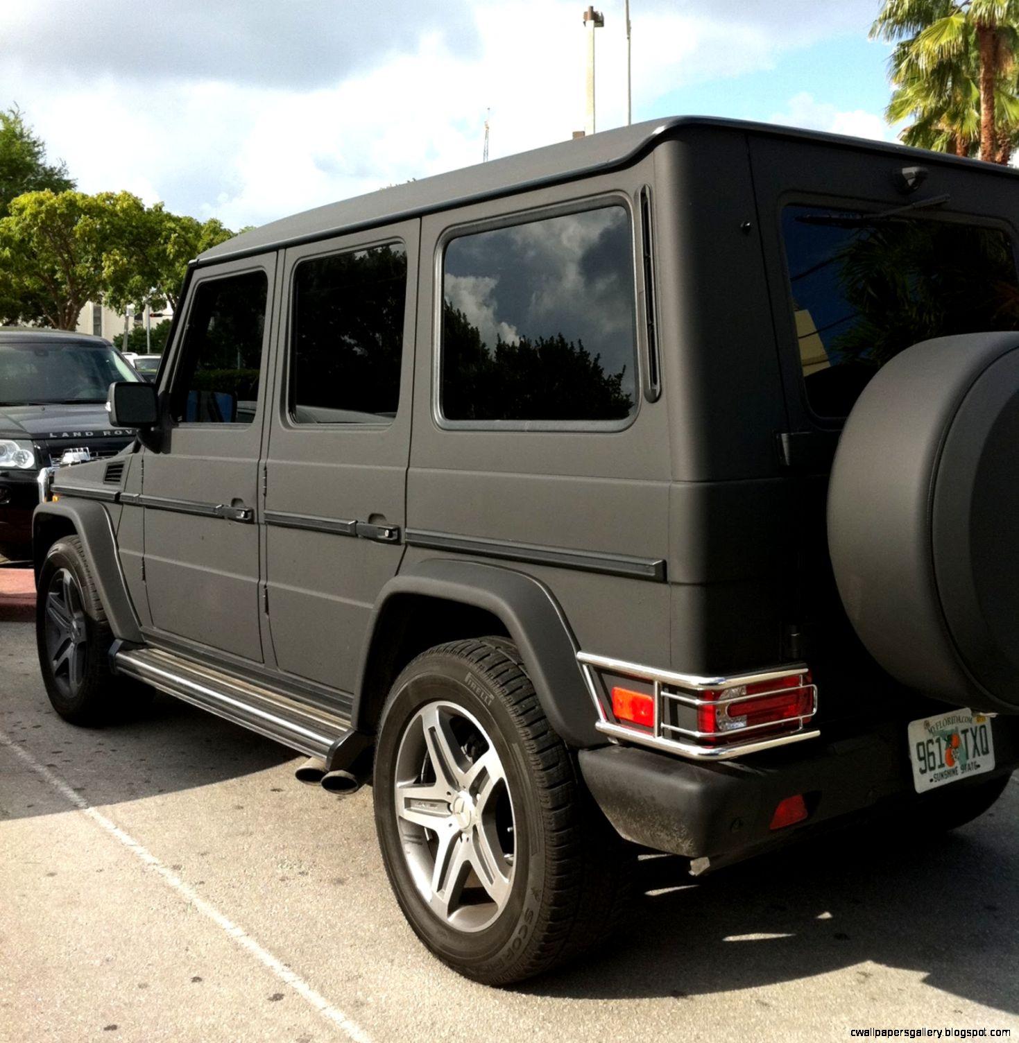 Matte black mercedes g wagon wallpapers gallery for Mercedes benz g class black