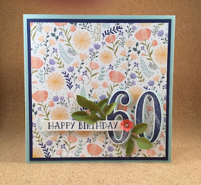 Birthday card, Flowery card, Punches, Stampin' Up!, Stampin' Up! UK