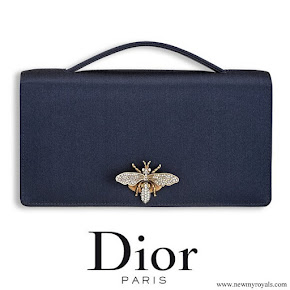 Meghan Markle wore Dior Bee Leather Clutch