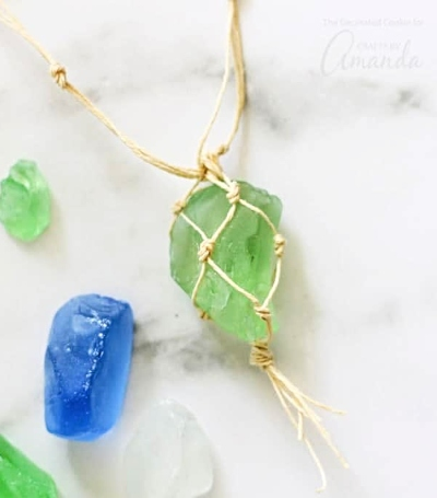 Macrame Wrap Sea Glass