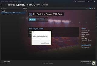 Solusi Mengatasi Masalah Unable to initialize SteamAPI di PES 2017