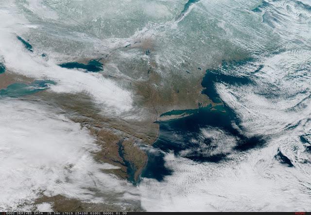 Thời tiết khắc nghiệt bao trùm vùng đông bắc Hoa Kỳ. Hình ảnh: NOAA/NASA.