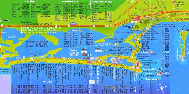 Cancun map 2011
