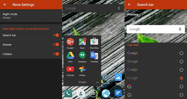 Nova Launcher v4.3 beta2 Introducing New Automatic Night Mode Option