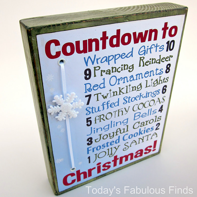 ...the other side of the block is counting up to celebrate Christ's birth. - Today's Fabulous Finds: Two Printable Christmas Countdowns--One