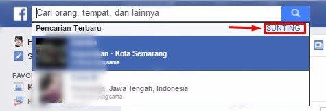 Image result for cara menghapus riwayat pencarian facebook