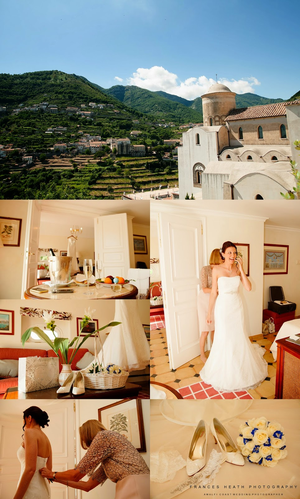 Bride getting ready at Hotel Belmond Caruso