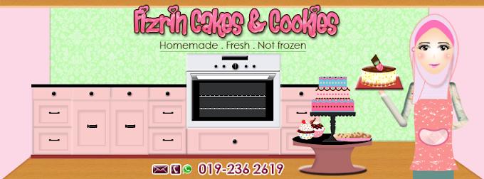 Tempahan Design Facebook Cover Photo : Fizrin Cakes & Cookies