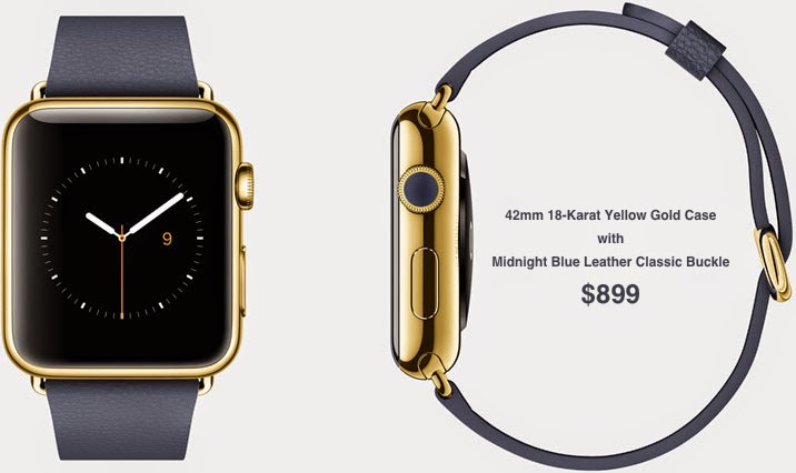 42mm 18-Karat Yellow Gold Case with Midnight Blue Leather Classic Buckle $899