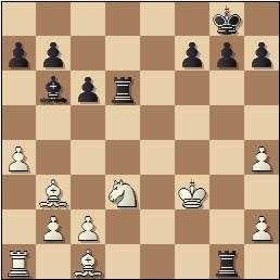 Partida de ajedrez Esteban Canal vs. Rafael Llorens, posición después de 24.a4?, Barcelona 1936