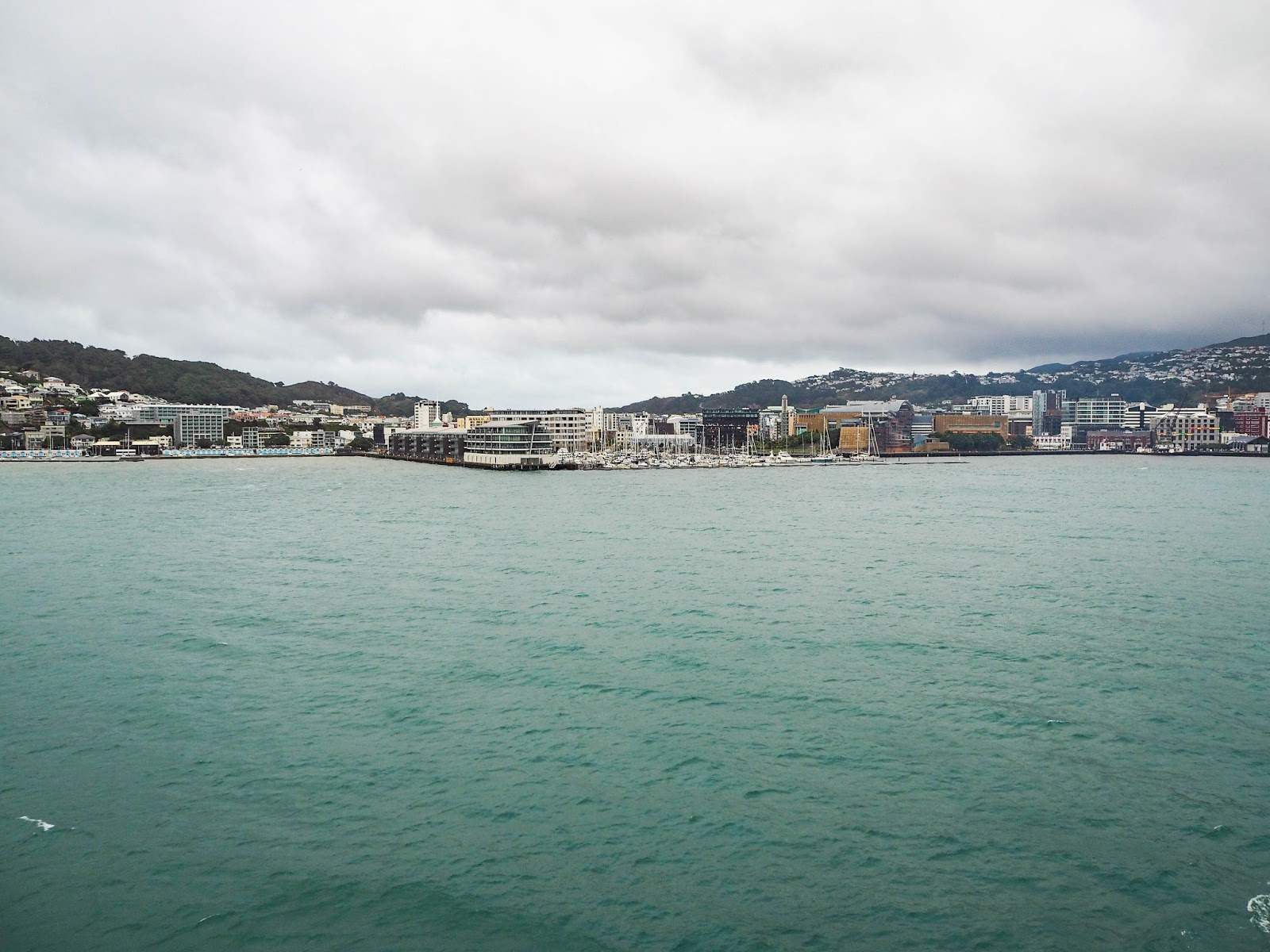 View of Wellington from Cook Strait ferry