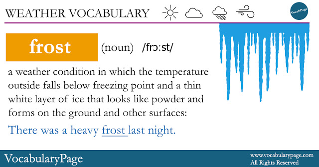Weather Vocabulary - Frost