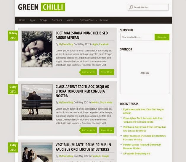 GreenChili theme