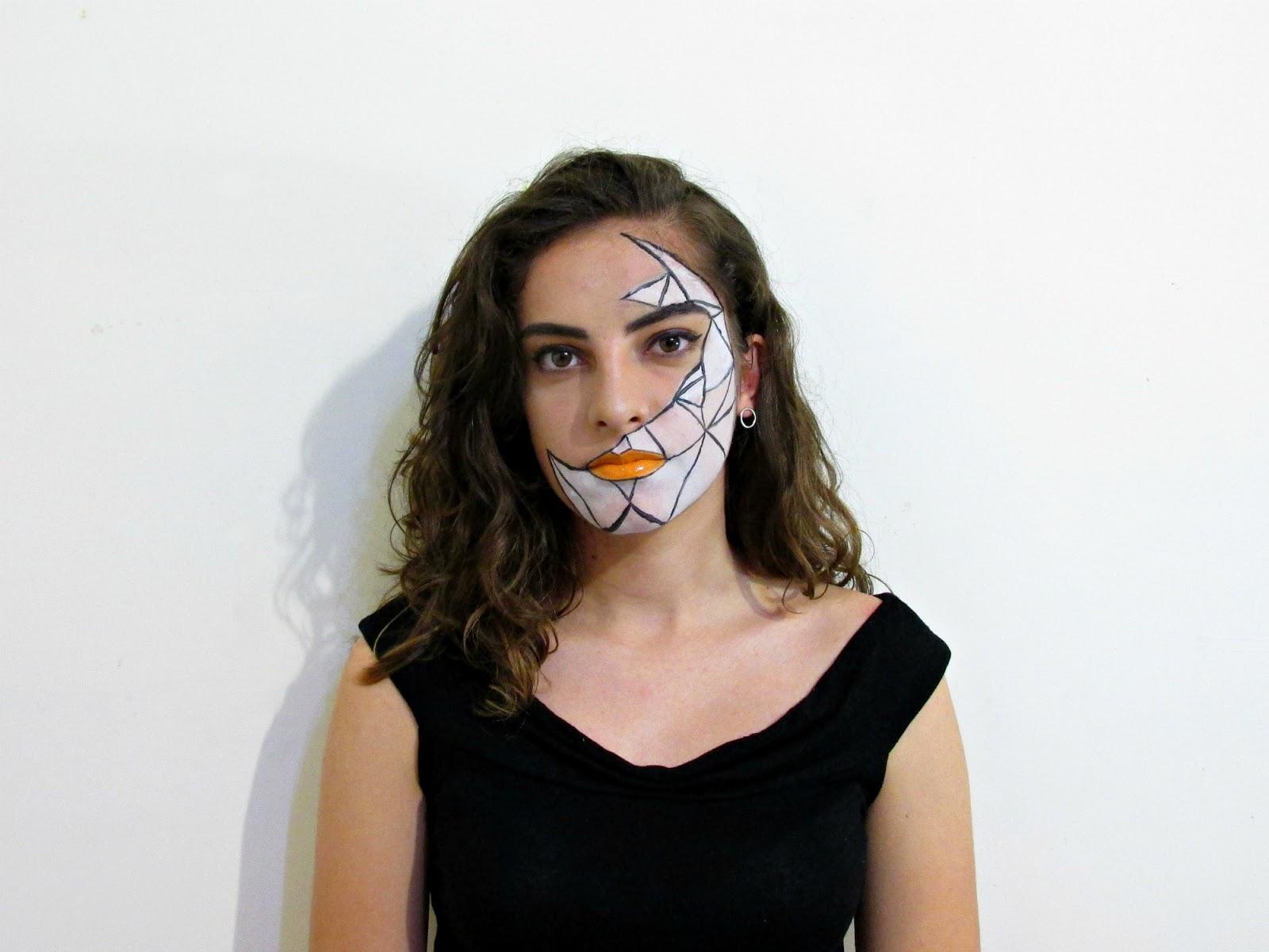 geometric Halloween makeup look 2016