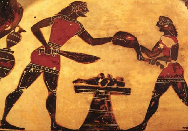 Κοκορέτσι έτρωγαν οι Αρχαίοι Έλληνες από τα χρόνια του Ομήρου και το ονόμαζαν «πλεκτή». Πως μαρινάριζαν το αρνί και το κατσίκι στη σούβλα...