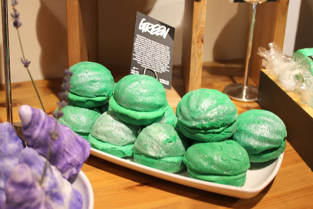 The newly reformulated Green Bubbleroon Bubble Bar from Lush Nottingham