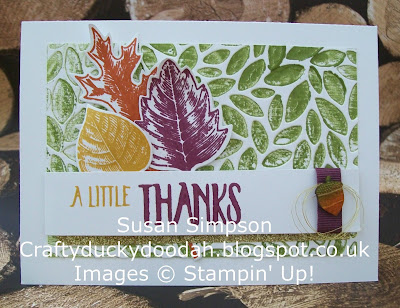 Stampin Up! UK Idependent Demonstrator Susan Simpson, Craftyduckydoodah!, Vintage Leaves, Leaflets Framelits, Petal Burst TIEF, Supplies available 24/7,
