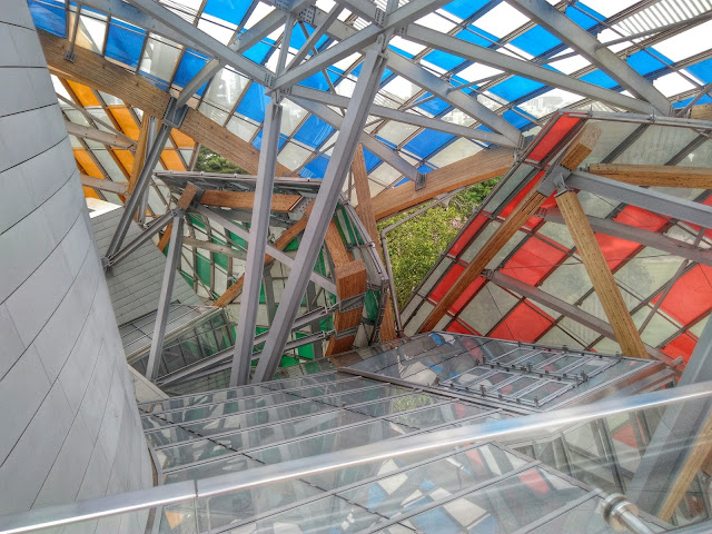 View from the inside of the Fondation Louis Vuitton, Paris, France. Photo shot by @rotanarotana.
