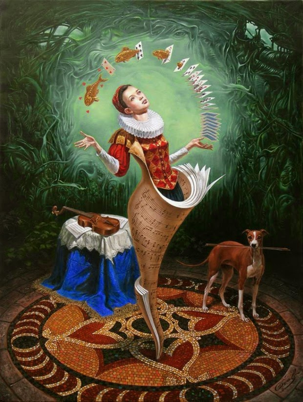 12-Michael-Cheval-Magical Lesson-Surreal-Absurdist-Paintings-www-designstack-co