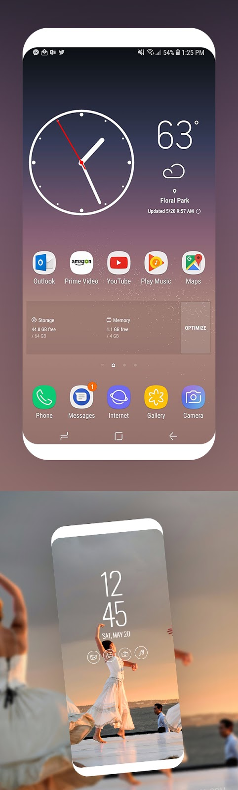 Download Free Mockup PSD 2018 - Free Samsung Galaxy S8 Screen Mockup Design