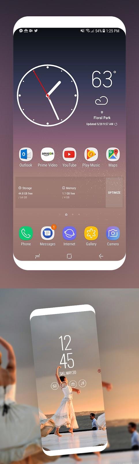 Download Free Mockup PSD 2018 - Free Samsung Galaxy S8 Screen Mockup Design