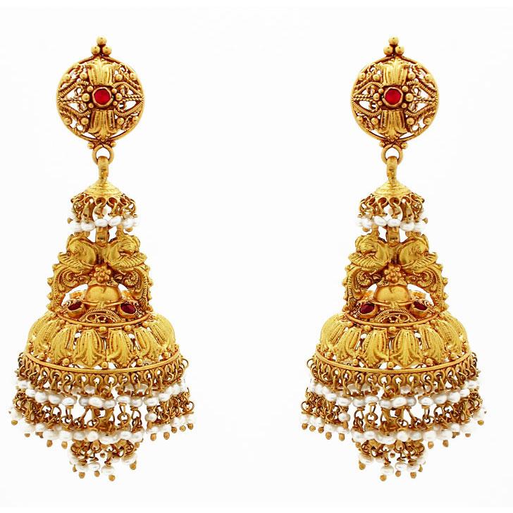 Gold Wedding Ring Earrings