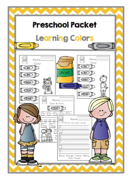 preschool packet learning colors preschool printables. Black Bedroom Furniture Sets. Home Design Ideas