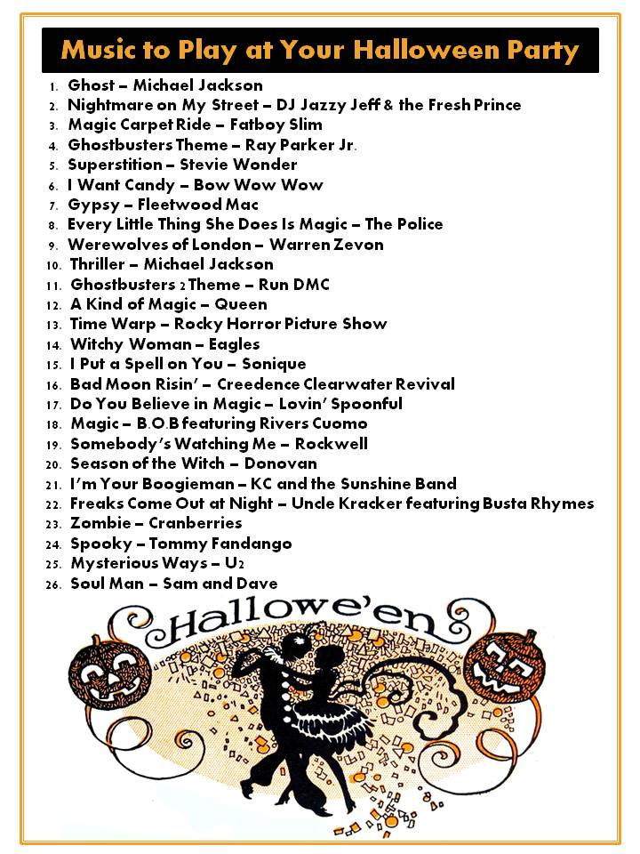 Halloween Music Playlist.The Harris Sisters What Music Can I Play At My Halloween Party