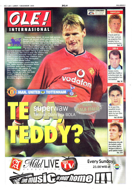 MAN. UNITED VS TOTTENHAM TEDDY SHERINGHAM