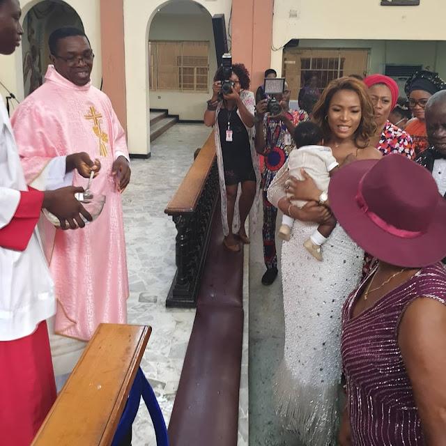 Peter Obi Attends Linda Ikeji's Child Dedication Ceremony [PHOTOS]
