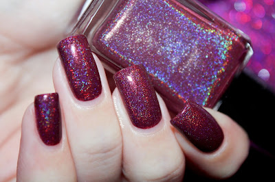 "Swatch of the nail polish ""Mr Burgundy"" from Enchanted Polish"