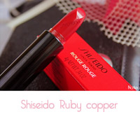 rouge à lèvre Shiseido Ruby copper