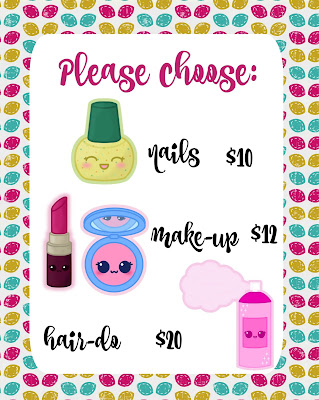 free beauty salon pretend play printables