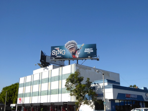 Sing movie Ash billboard