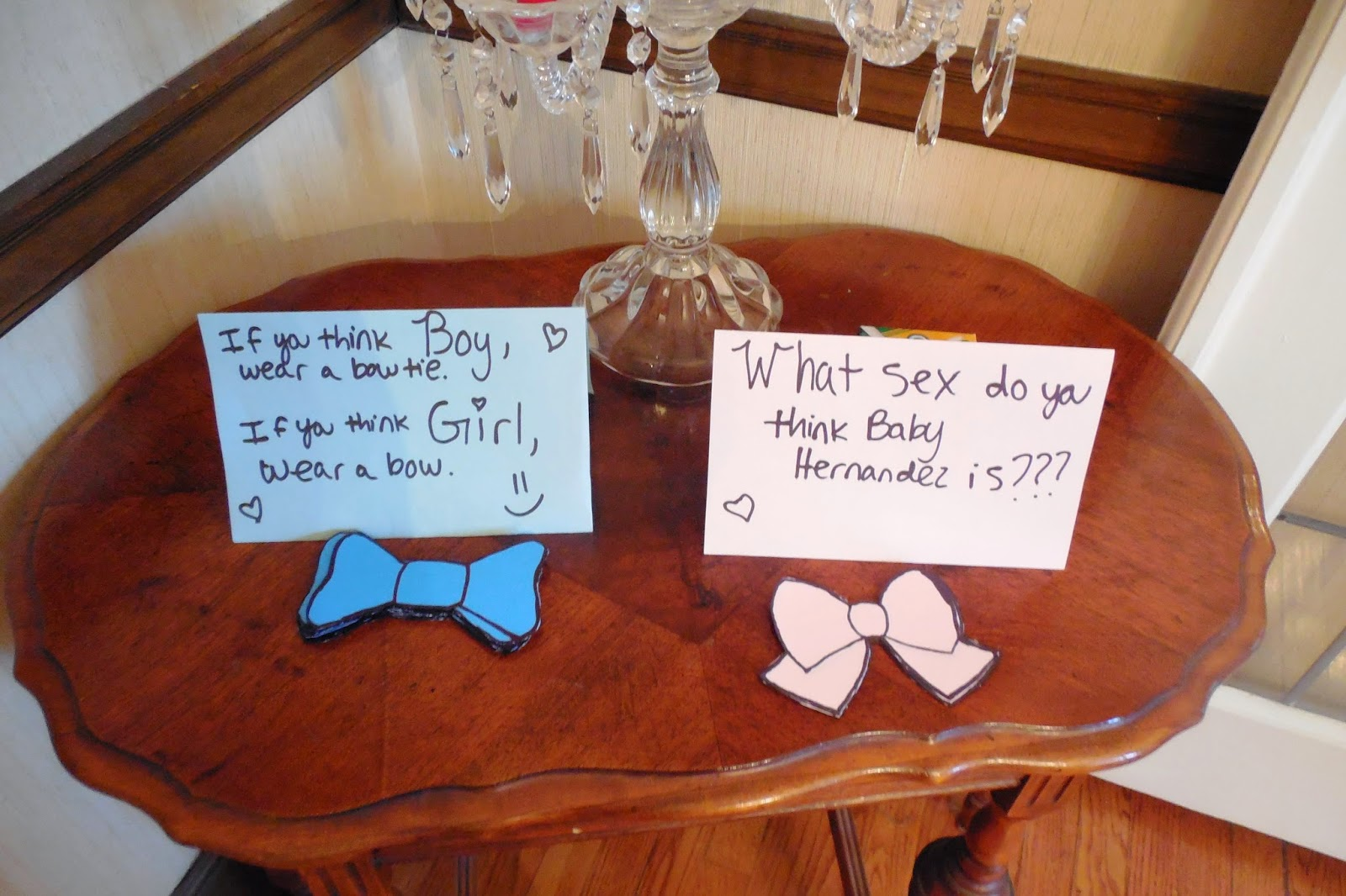 Gender reveal bows and bowties
